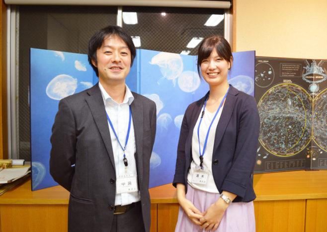 墨田区産業振興課の仲洞雅さんと高木知沙美さん