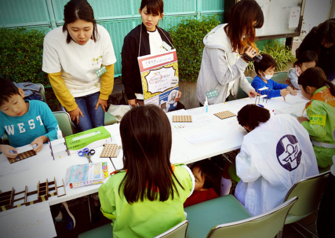 千葉大学の学生たちによるワークショップ「自分だけの屋台を考えてみよう」